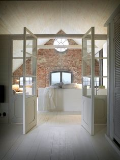 The Sheer Beauty of Brick Tiles Bathroom Ideas You Need to Know - Interior Remodel - Exposed Brick Bathroom – Wall Small Chimney Toilets Subway Tiles Sinks Living Rooms Accent Walls - House Of Mirrors, Brick Tiles Bathroom, Bathroom Tile Designs, Bathroom Wall, Attic Bathroom, Room Tiles, Bathroom Interior, Bathroom Ideas, Remodel Bathroom