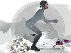 Skigymnastik: Die besten Übungen Fitness Workouts, Loving Your Body, Skiing, Snowboarding, Health Fitness, Joy, Sports, Tricks, Training