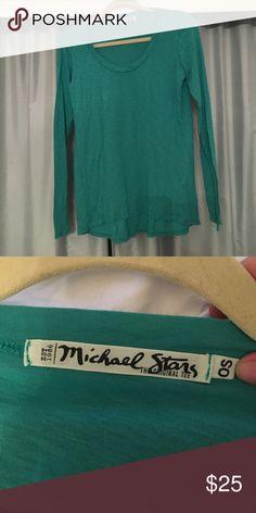 MICHAEL STARS teal long sleeve T Super soft & comfy teal Michael stars long sleeve basic T shirt Michael Stars Tops Tees - Long Sleeve