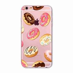 "Phone Case Cover For iPhone 6 6s 4.7"" Transparent Flowers Skull Cat Girls Macaron Dessert Ultra Soft TPU Back Capa Shell"