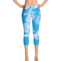 Oceanic Patterned Capri Leggings