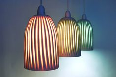 Beautiful ceramic lights by Harriet Caslin seen at Craft London