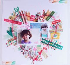 #papercraft #scrapbook #layout my girl by sarahboirin at @Studio_Calico