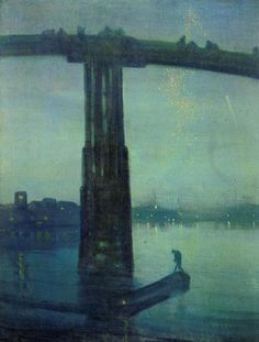 Nocturne Blue and Gold    James Abbott McNeill Whistler