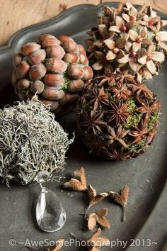 Wonderful idea to tinker with natural materials - Basteln - Natural Christmas, Christmas Home, Christmas Wreaths, Christmas Crafts, Christmas Decorations, Christmas Ornaments, Xmas, Autumn Decorations, Merry Christmas