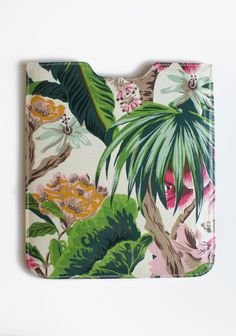 """Tropical Destiny Ipad Case By Anna Griffin 22.99 at shopruche.com. This padded oil cloth iPad case is perfected with a stylish green and pink tropical print. By Anna Griffin.10"""" x 8.75"""""""