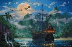I'll print this and put it on my wall =] Peter Pan Disney Art - Neverland Thomas Kinkade Disney, Peter Pan Art, Peter Pans, Disney Peter Pan, Peter Pan And Tinkerbell, Disney Love, Disney Magic, Disney Theme, Disney Disney