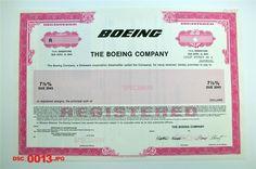 Boeing Co 1993 $ Odd Registered Bond Specimen POC EF