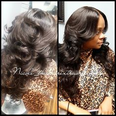Crochet Hair Middle Part : Middle part sew in with lace closure and soft curls. . To book ...