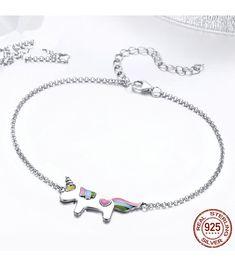 925 STERLING SILVER PURE LOVE ANIMAL BRACELETS FOR WOMEN LOBSTER SILVER SNAKE CHAIN BRACELETS BANGLES #silver #jewelry #bracelets #fashion_goals #jewelry_making #outfits_idea  #jewelry_gift #unicorn