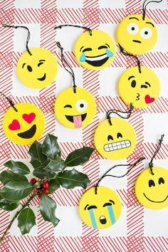 Fun! DIY Emoji Ornaments
