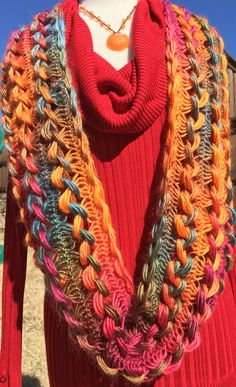 Hairpin Lace Infinity Scarf by LaurieCozyCrochet on Etsy
