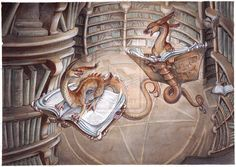 Bookdragons and Dragonbooks by *drachenmagier on deviantART