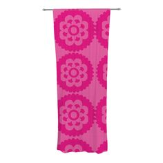 "Nicole Ketchum ""Moroccan Hot Pink"" Decorative Sheer Curtain"