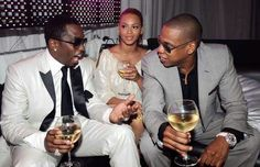 P. Diddy, Beyoncé and Jay-Z.
