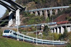 Three levels of the Gotthard railway at Giornico