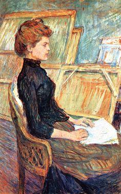 The Athenaeum - Studio Model: Helene Vary (Henri de Toulouse-Lautrec - )