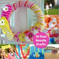Pool Noodle Crafts: 10 Ways to Use Them Besides the Pool