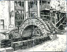 Paul Heaston - I love these Moleskine drawings.