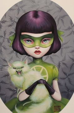 Transaction Etsy - Scarlett Madcat - Girl Wonder- 5x7 Fine Art Print by Mab Graves-unframed