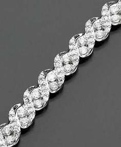 Diamond Bracelet, 14k White Gold Diamond (3 ct. t.w.) - Diamonds - Jewelry & Watches - Macy's