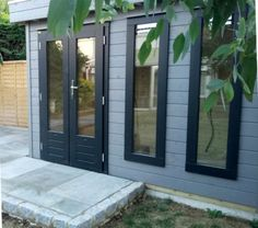 A modern garden office or studio design from our Prima range. Choose any style & configuration of doors & windows to suit you. Small Garden Office, Contemporary Garden Rooms, Garden Pods, Outdoor Life, Outdoor Decor, Garden Studio, Garden Buildings, Cladding, My House