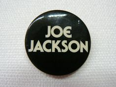 Vintage Early 80s Joe Jackson Pin / Button / Badge by beatbopboom on Etsy