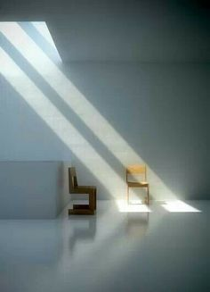 Light and chairs