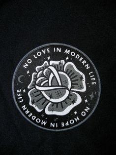"""No Love / No Hope"" Patch (grey)"
