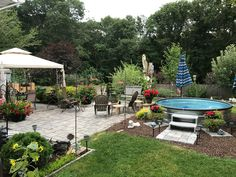 Landscaping Around Base Of Intex Ultra Frame Pools Page 7 Front Back Yard Pinterest