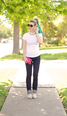 Jeans & a White T Outfit No. 23 ~ 50's Modern