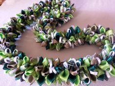Emerald forest by AlohaRibbonCrafts on Etsy