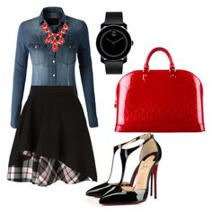 A fashion look from August 2015 featuring button up shirts, plaid skirt and black pumps. Browse and shop related looks. Plaid Skirts, Black Pumps, Alexander Mcqueen, Button Up Shirts, Christian Louboutin, Dress Up, Fashion Looks, Girly, Louis Vuitton