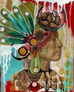 native american headdress by Heather Gerni