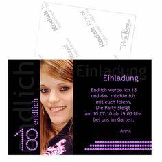 Einladungen 18. Geburtstag