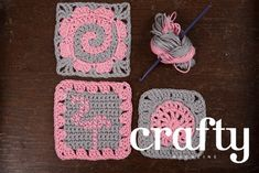 How to crochet a flamingo-inspired granny square