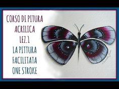 Una farfalla meravigliosa usando i colori acrilici