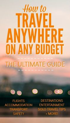 New to budget travel? Learn all the expert travel tips that long-term travelers use to stay on the road longer, cheaper and smarter. Solo Travel Tips, Ways To Travel, Best Places To Travel, Travel Hacks, Travel Channel, Travel Goals, Travel Packing, Travel Ideas, Travel Guide