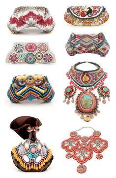 Beaded Purses and necklaces by Bea Valdes