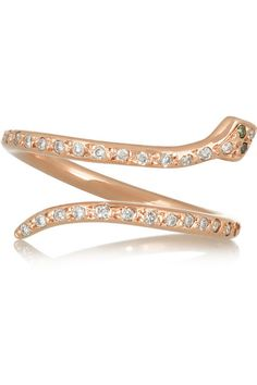 Ileana Makri rose gold diamond ring