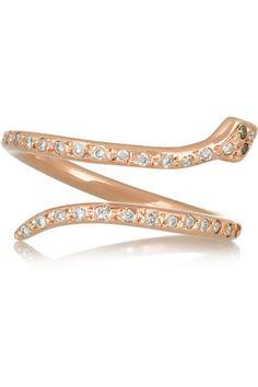 Ileana Makrirose gold diamond ring