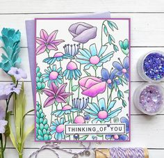 """Living My Dream: """"One Stamp, Five Ways"""" - SSS So Beautiful Crafty Hugs Release Fine Pens, My Stamp, Stamp Card, Paper Smooches, Beautiful Handmade Cards, Heart Cards, Flower Backgrounds, Simon Says Stamp, Copics"""