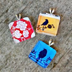 Make a glass-tile pendant! Step-by-step instructions.