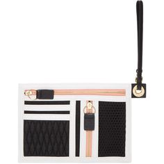 Kenzo Black Wristlet Zip Pouch (1.485 NOK) ❤ liked on Polyvore featuring bags, handbags, clutches, wristlet purse, wristlet clutches, zipper purse, zipper handbag and zip purse
