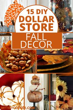 Fall Crafts For Adults, Easy Fall Crafts, Easy Fall Wreaths, Diy Fall Wreath, Rustic Fall Decor, Dyi Fall Decor, Fall Home Decor, Dollar Stores, Dollar Store Crafts
