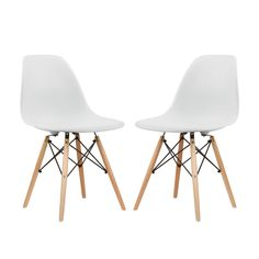 Perhaps one of the most versatile designs of the 20th century, this Adrian Slope Chair offers a minimalist silhouette that can transform just about any space. As if the elegant scoop-shaped seat  isn't...  Find the Adrian Slope Chair - Set of 2, as seen in the Mid-Century In Bloom Collection at http://dotandbo.com/collections/mid-century-in-bloom?utm_source=pinterest&utm_medium=organic&db_sku=116524