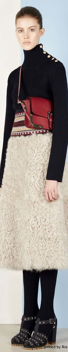 Red Valentino Fall 2016 RTW l   women fashion outfit clothing style apparel @roressclothes closet ideas