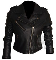 Short Body Rider Black Leather Jacket For Women's  Get the powerful look of a biker lady who does not back down from anyoneUnlike some of the other leather garments for women, this jacket's style helps the wear display a sense of boldness, confidence, independence, and self-reliance.It is made