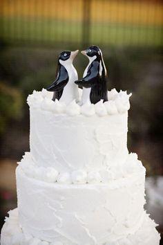 The 64 best Penguin-Wedding Cake Topper images on Pinterest | Cake ...