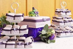 Our beautiful purple butterfly zoo cake